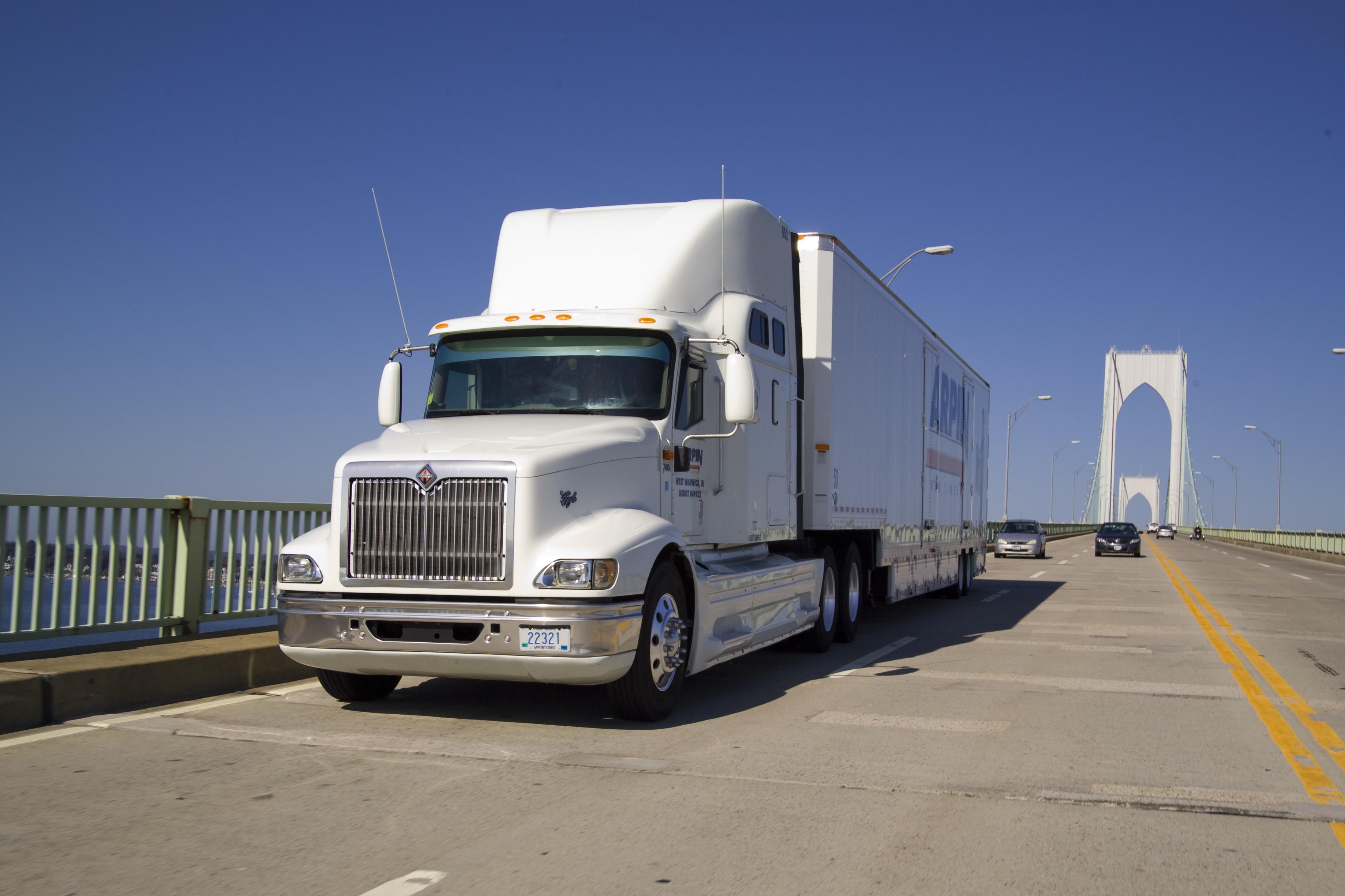 Arpin truck on a bridge